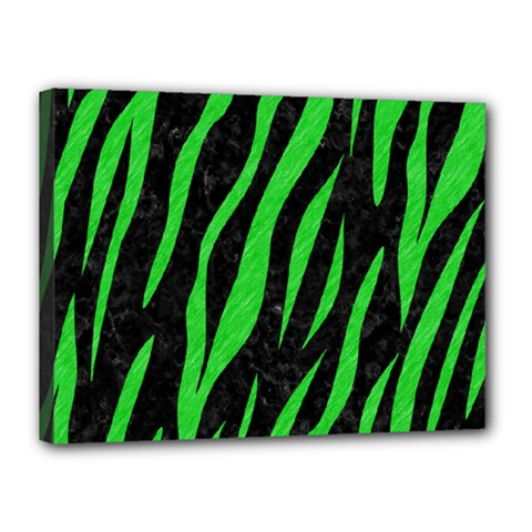 Skin3 Black Marble & Green Colored Pencil Canvas 16  X 12