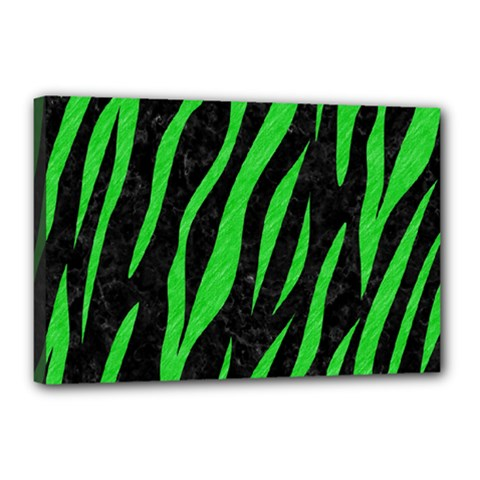 Skin3 Black Marble & Green Colored Pencil Canvas 18  X 12