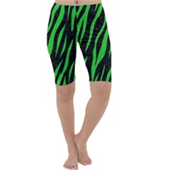 Skin3 Black Marble & Green Colored Pencil Cropped Leggings