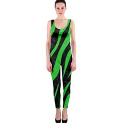 Skin3 Black Marble & Green Colored Pencil Onepiece Catsuit