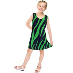 Skin3 Black Marble & Green Colored Pencil Kids  Tunic Dress