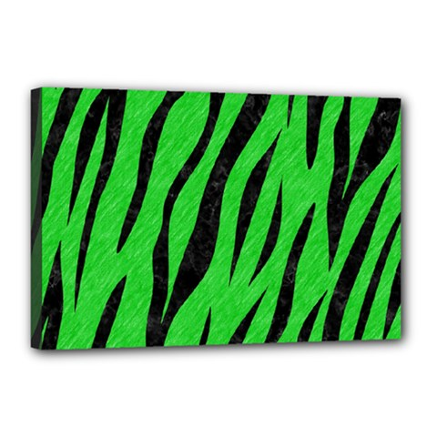 Skin3 Black Marble & Green Colored Pencil (r) Canvas 18  X 12