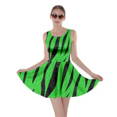 Skin3 Black Marble & Green Colored Pencil (r) Skater Dress