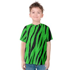 Skin3 Black Marble & Green Colored Pencil (r) Kids  Cotton Tee