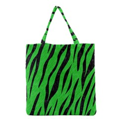Skin3 Black Marble & Green Colored Pencil (r) Grocery Tote Bag