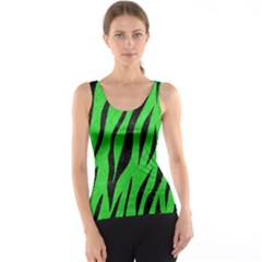 Skin3 Black Marble & Green Colored Pencil (r) Tank Top