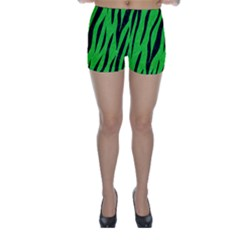 Skin3 Black Marble & Green Colored Pencil (r) Skinny Shorts