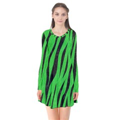 Skin3 Black Marble & Green Colored Pencil (r) Flare Dress