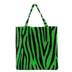 Skin4 Black Marble & Green Colored Pencil Grocery Tote Bag
