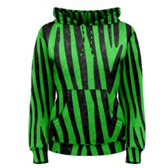 Skin4 Black Marble & Green Colored Pencil Women s Pullover Hoodie