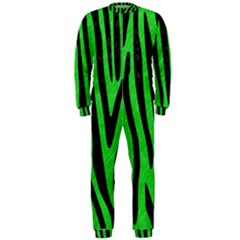 Skin4 Black Marble & Green Colored Pencil Onepiece Jumpsuit (men)