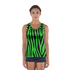 Skin4 Black Marble & Green Colored Pencil Sport Tank Top