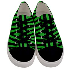 Skin4 Black Marble & Green Colored Pencil Men s Low Top Canvas Sneakers