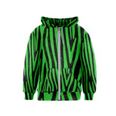 Skin4 Black Marble & Green Colored Pencil (r) Kids  Zipper Hoodie