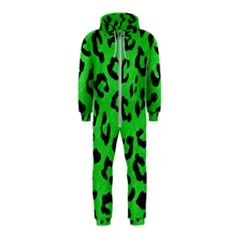 Skin5 Black Marble & Green Colored Pencil Hooded Jumpsuit (kids)