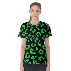 Skin5 Black Marble & Green Colored Pencil (r) Women s Cotton Tee