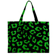 Skin5 Black Marble & Green Colored Pencil (r) Zipper Mini Tote Bag