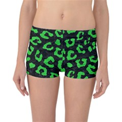 Skin5 Black Marble & Green Colored Pencil (r) Reversible Boyleg Bikini Bottoms