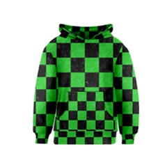 Square1 Black Marble & Green Colored Pencil Kids  Pullover Hoodie