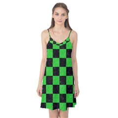 Square1 Black Marble & Green Colored Pencil Camis Nightgown