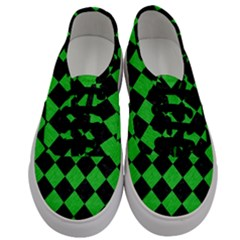 Square2 Black Marble & Green Colored Pencil Men s Classic Low Top Sneakers