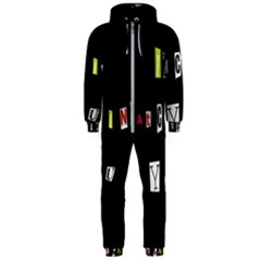 I Am Watching You Hooded Jumpsuit (men)