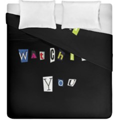 I Am Watching You Duvet Cover Double Side (king Size)