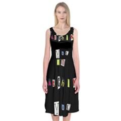 I Am Watching You Midi Sleeveless Dress