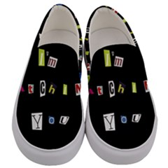 I Am Watching You Men s Canvas Slip Ons