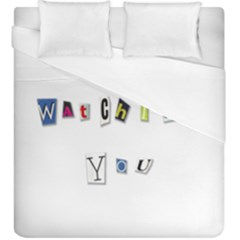 I Am Watching You Duvet Cover (king Size)