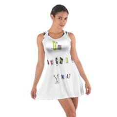 I Am Watching You Cotton Racerback Dress