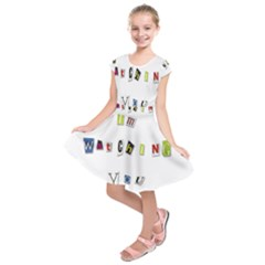 I Am Watching You Kids  Short Sleeve Dress
