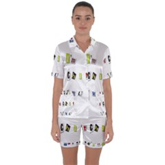 I Am Watching You Satin Short Sleeve Pyjamas Set