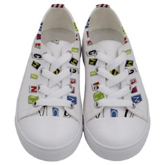 I Am Watching You Kids  Low Top Canvas Sneakers