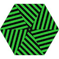 Stripes3 Black Marble & Green Colored Pencil (r) Mini Folding Umbrellas