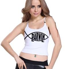 Darwin Fish Spaghetti Strap Bra Top