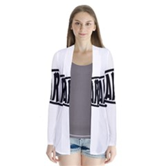 Darwin Fish Drape Collar Cardigan