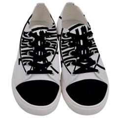 Darwin Fish Men s Low Top Canvas Sneakers