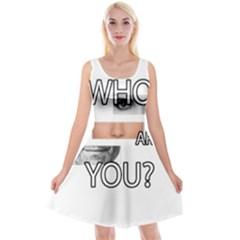 Who Are You Reversible Velvet Sleeveless Dress