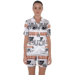 Who Are You Satin Short Sleeve Pyjamas Set