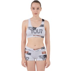 Who Are You Work It Out Sports Bra Set