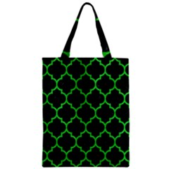 Tile1 Black Marble & Green Colored Pencil Zipper Classic Tote Bag