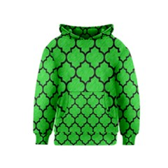 Tile1 Black Marble & Green Colored Pencil (r) Kids  Pullover Hoodie