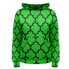 Tile1 Black Marble & Green Colored Pencil (r) Women s Pullover Hoodie