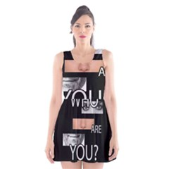 Who Are You Scoop Neck Skater Dress