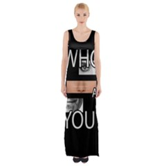 Who Are You Maxi Thigh Split Dress