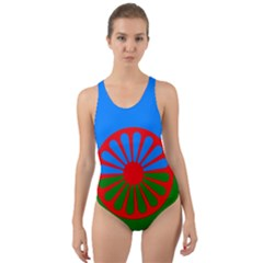 Gypsy Flag Cut Out Back One Piece Swimsuit