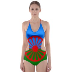 Gypsy Flag Cut Out One Piece Swimsuit