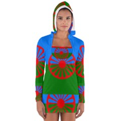 Gypsy Flag Long Sleeve Hooded T Shirt