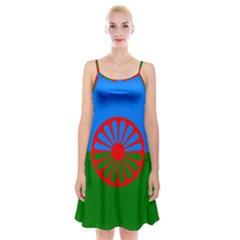 Gypsy Flag Spaghetti Strap Velvet Dress